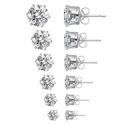 White Plated Square Shape Earrings product image