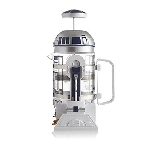 Guerra de las Galaxias R2-D2 Maquina de cafe Cafetiere Creatividad Cafetera con filtro permanente Carcasa de plástico + vidrio + acero inoxidable para uso ...