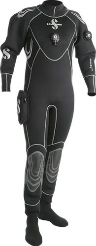 Scubapro Drysuit - ScubaPro Everdry 4 Men's Drysuit (Black / Gray, Small)
