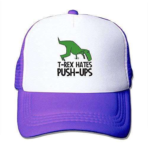 AOHOT Classic Hombre Mujer Gorras de béisbol, T-Rex Hates Push-up ...