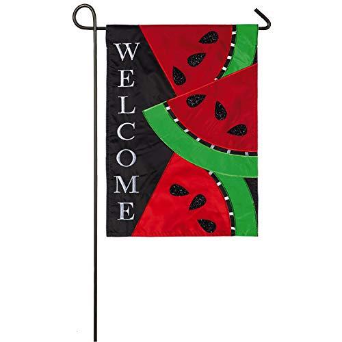 Evergreen Flag Watermelon Slices Applique Garden Flag