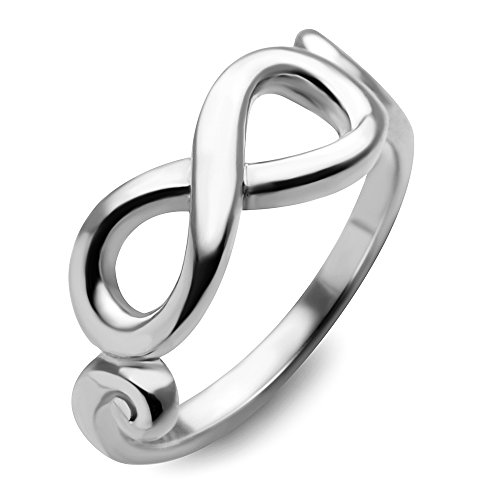 925 Sterling Silver Knot Forever Love Infinity Symbol Rings - 9