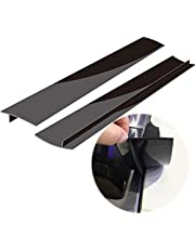 Silicone Kitchen Stove Counter Gap Cover, Long and Wide Gap Filler (2 Pack) Seals Spills Between Counters, Stovetops, Washing Machines, Oven, Washer, Dryer, Heat-Resistant and Easy Clean (Black)