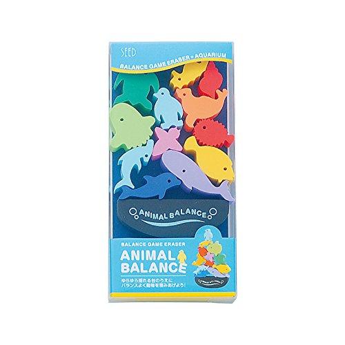 Seed Animal Balance Game Eraser Set - Aquarium