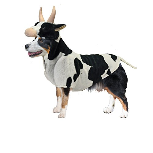 (Amazing Pet Products Realistic Cow Dog Halloween Costume)