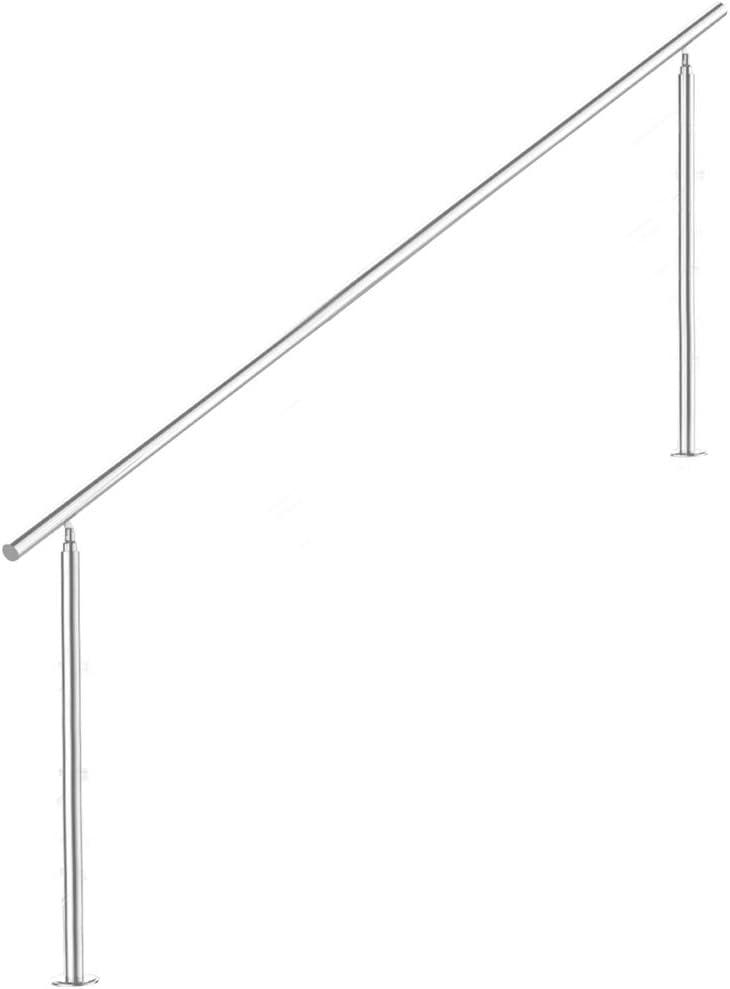 V2Aox Treppengel/änder Edelstahl Handlauf Gel/änder Balkongel/änder Aufmontage Treppe Anzahl Streben:5 L/änge:140 cm