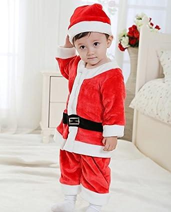 1e2de754af2d1 サンタ コスプレ衣装 サンタ 衣装 男の子 子供 サンタ コスチューム キッズ 子供服 サンタクロース 帽子付き ロンパース