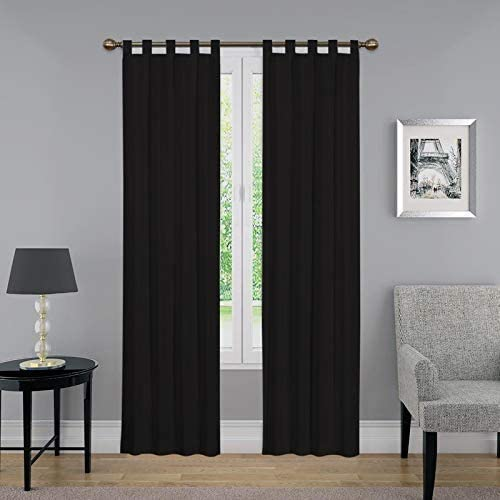 CASA COUTURE Tab Top Curtain Thermal Insulated Blackout Curtains