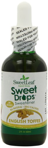 SweetLeaf Sweet Drops Liquid Stevia Sweetener, English Toffee, 2 Ounce (Pack of 2)