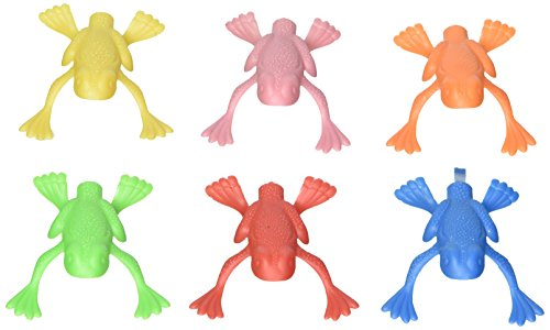 Fun Express Plastic Jumping Frogs - 144 Piece Pack ()