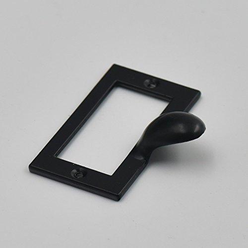 5 Pcs Home Cabinet Frame Handle Drawer Label Tag Pull File Name Card Holder Screw SizeA Black