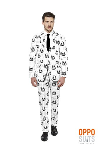 OppoSuits Mens Stormtrooper Star Wars Party Costume Suit with Adjustable Hem Tape (44) (Storm Trooper Sexy)