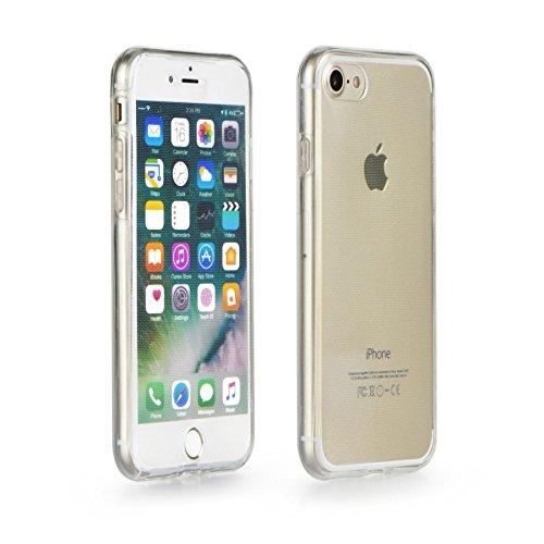 360° Full Body Silikon Case Schutz Hülle Handy Tasche Schale Bumper TRANSPARENT iPhone 8 PLUS