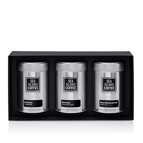 African Coffee Gift Set - Cafetiere Grind (3 x 1.8 Oz Tins) ()