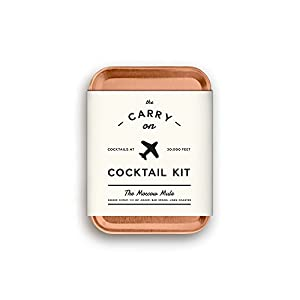 W&P Carry Travel Kit for Drinks on the Go, Craft Cocktails, TSA Approved, Single, Moscow Mule