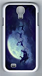Galaxy S4 Case, Personalized Protective Hard PC White Edge Merry Christams03 Case Cover for Samsung Galaxy S4