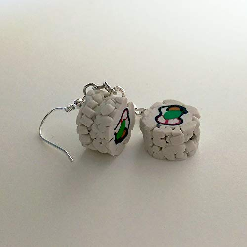 Sushi California Roll Earrings Faux Food Jewelry Halloween Christmas]()