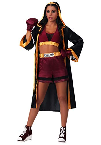 Women's Tough Boxer Costume Small Red