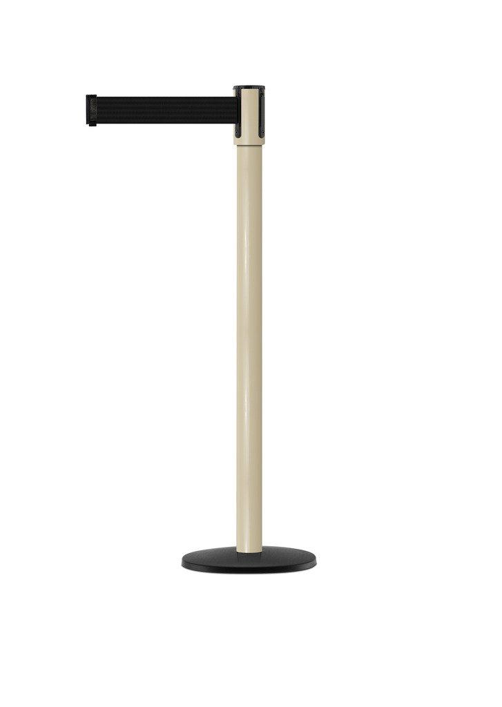 Tensabarrier - 890B-33-100-100-STD-NO-B9X-C - beige post, 2'' wide, 7'6'' length Black belt