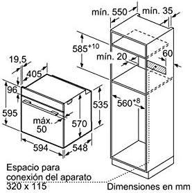 Balay 3HB4331N0 - Horno Medio eléctrico (71 L, 3400 W, 71 L, 3400 ...
