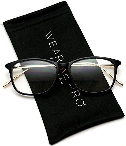 WearMe Pro - Rectangular Slim Elegant Fashion Clear Glasses -
