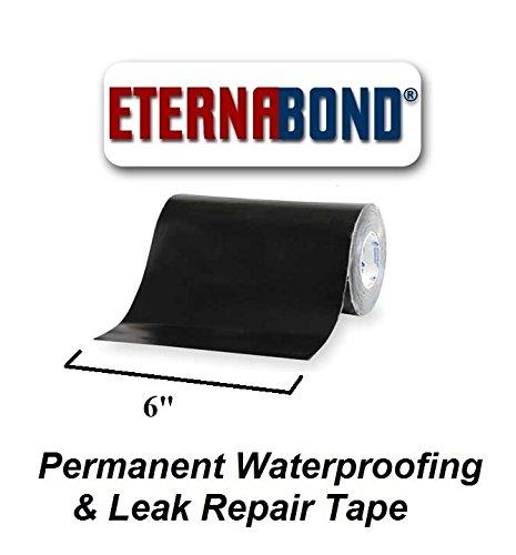 BLACK Eternabond Mobile Home RV Rubber Roof Repair 6'' x 10' - 10 Foot, 10 Feet by EternaBond