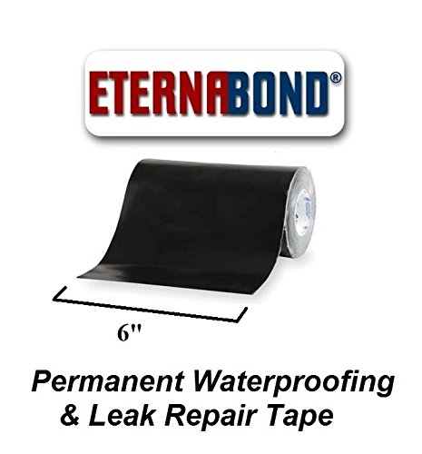 BLACK Eternabond Mobile Home RV Rubber Roof Repair 6'' x 10' - 10 Foot, 10 Feet