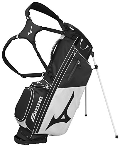 Bag Golf Embroidery (Mizuno 2018 BR-D3 Stand Golf Bag, black/White)