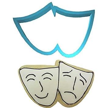 Máscara de teatro Plast-concluyentes molde para galletas 10,16 cm PC0305: Amazon.es: Hogar
