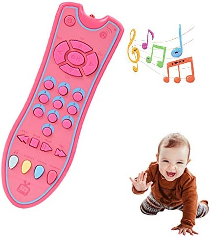 Musical TV Remote Control Toy, Learning Remote with Light and Sound, Musical Toy for Toddlers, Kid, Three Modes Language: English, French and Spanish
