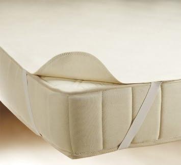 Matratzenschoner om 100/% Baumwolle Matratzenauflage Matratzenschutz 90 x 200 cm