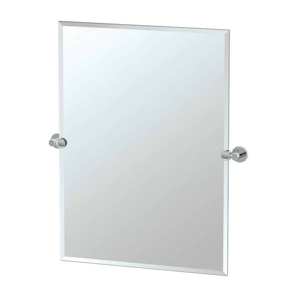 Gatco 4689S Channel Rectangle Mirror, Chrome by Gatco