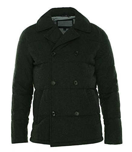Quilted Peacoat (Tommy Hilfiger Men's Ash Quilted Peacoat X-Large Charcoal)