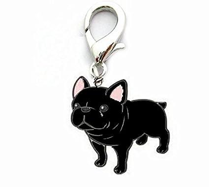 OHA de PET Bulldog Charm - French Bulldog llavero en negro ...