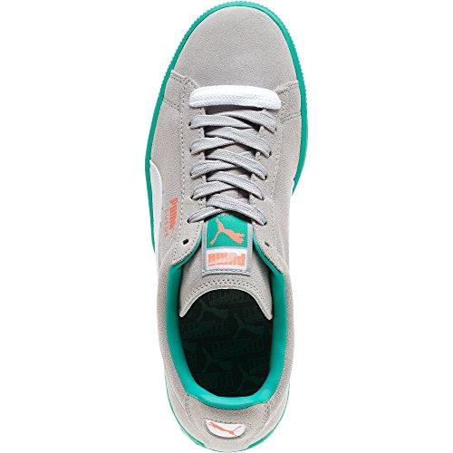 Puma Gamuza Classic Cuero Formstrip Sneaker Gris Violeta Blanco Flue Teal