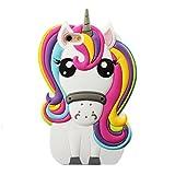 Unicorn Case for iPhone5s/SE/5C, MinzyCase 3D Cartoon Unicorn Cute Rainbow Horse Rubber Cover Silicone Case for Apple iPhone5/5S/SE/5C 5G