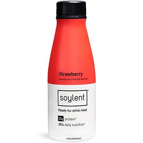 Soylent Meal Replacement Shake, Strawberry, 14 oz Bottles, 12 Pack (Best Tri Bars Review)