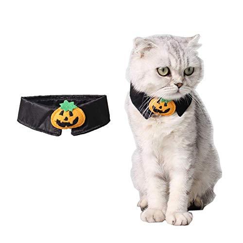 HXINFU Halloween Dog Collar Pumpkin Cat Collar Halloween Costume Bow Tie -