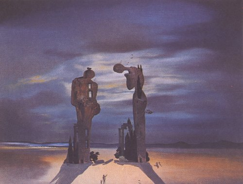 Archeological Reminiscence of Millet's Angelus (1935) (Painting) painted by Salvador Dali
