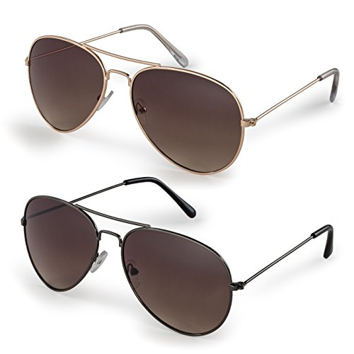 Stylle Classic Aviator Sunglasses - low cost with UV400 protection - many styles -