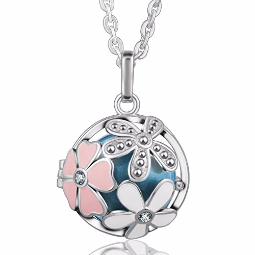 Eudora Harmony Bola Summer Flower 20mm Musical Chime Pendant 30 inches Necklace Pregnancy Bell - 14k Gold Childrens Heart