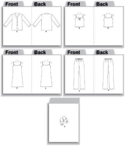 McCalls Patron de Couture 4979/Mesdames veille//lounge Wear Tailles XS-S-M