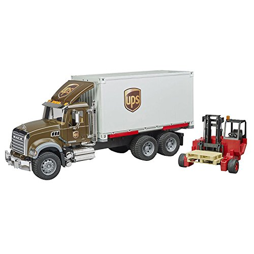 Bruder Mack Granite Ups Logistics Truck with Forklift Vehicles - Toys ()