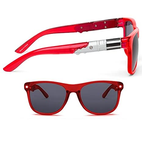 ABC Light Saber Gafas de sol - RED: Amazon.es: Electrónica