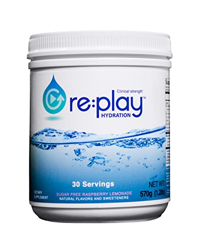 Re:Play Hydration Recovery Drink Powder, Raspberry Lemonade - 570g tub, 30 servings (1 Recovery Raspberry)