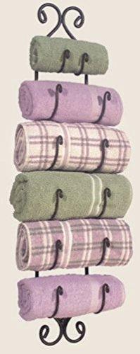 Colonial Tin Works Large Adirondack Towel Rack ~Black Wrought Iron