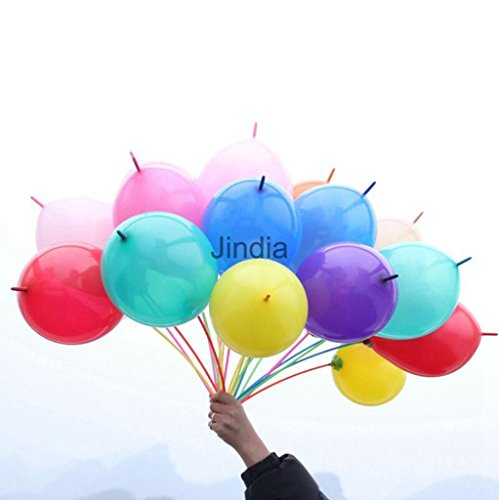 MAZIMARK--100pcs Quick Link Balloons Festival Occasions Decorations Boys Girls Toys