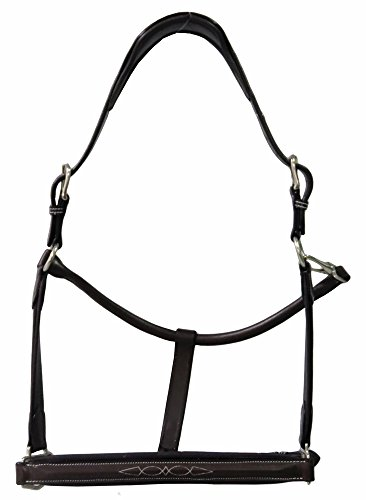 Henri de Rivel Stress Free Halter with Fancy Contrast Stitching | Color - Havana | Size - Horse