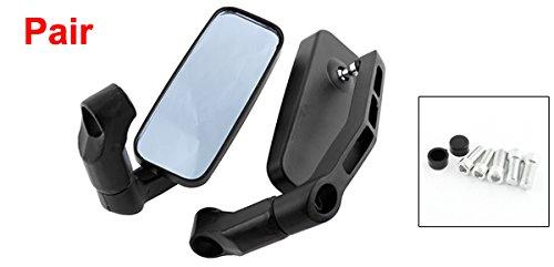 DLLL Carbon Universal 8mm 10mm Motorcycle Aluminum Rectangle Blind Spot Blue Rearview Side Mirror Fits Harley Davidsons,Suzuki,Honda,Kawasaki Cruisers,Touring Bikes,Sport Bike,Cafe Racers