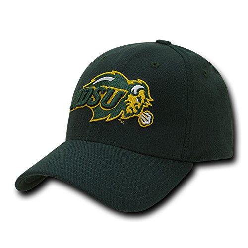 University North Dakota State NDSU Bison Thundering Herd NCAA Flex Baseball Fitted Fit Ball Cap Hat - State Fitted Hat